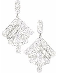 Kitik Jewelry - Kara Silver Earrings - Lyst