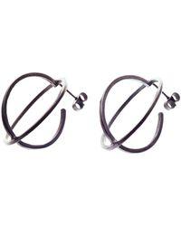 Nancy Rose Jewellery - Oxidised Large Ellipse Stud Earrings - Lyst