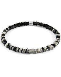 Anchor & Crew White Jasper Innot Silver & Stone Bracelet