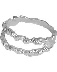Matthew Calvin Meteor Ring Silver - Metallic