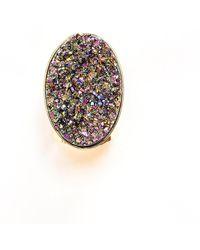 Tiana Jewel - Steffy Rainbow Metallic Druzy Ring - Lyst