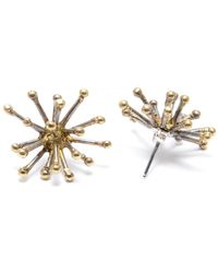 Mikinora - Jacks Earrings Brass - Lyst