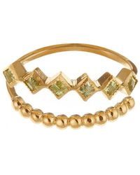 GFG Jewellery by Nilufer - Lara Double Row Peridot Ring - Lyst