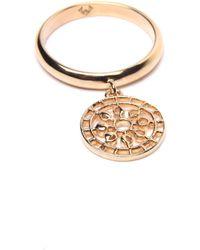 Puck Wanderlust - Gold Mini Moon Mandala Charm Ring - Lyst