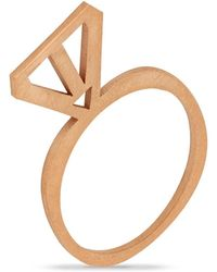 Retrospective Jewellery Arrow Ring Gold - Metallic