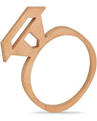 Retrospective Jewellery Treasure Ring Gold - Metallic