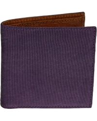 40 Colori | Purple Solid Washed Mogador & Leather Wallet | Lyst