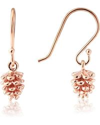 Auree - Caledonian Pine Cone Rose Gold Vermeil Earrings - Lyst