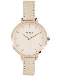 Auree Montamartre Rose Gold Watch With Almond & Pale Blue Strap - Metallic