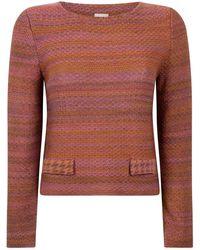 STUDIO MYR Sweater In Audrey Hepburn Style Tweed-heather - Pink