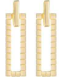 Neola - Gold Cube Earrings - Lyst
