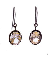 Nancy Rose Jewellery - Rutilated Quartz Ellipse Earrings - Lyst