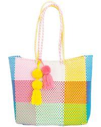 Soi 55 Lifestyle - Beatriz Shopper Tote Rainbow Check - Lyst