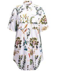 TOMCSANYI Garda Long Shirt 'hydrophyte' - White