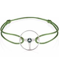 The Mechanists | Racing Green Steering Wheel On Olive Green Cord | Lyst