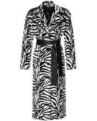 AGGI Maxine Monochrome Coat - Black