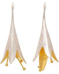 Carousel Jewels - Gold & Silver Statement Flower Drop Earrings - Lyst