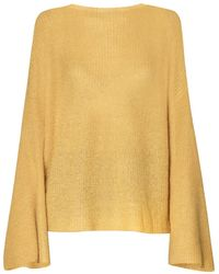 Paisie - Jumper With Flared Sleeves In Yellow - Lyst