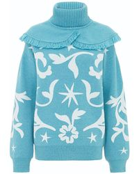 Hayley Menzies - Belle Starr Jumper Turquoise - Lyst