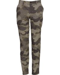 lords of harlech Charles Pant In Dot Camo Camel - Green