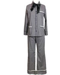 Lotte.99 Gingham Pyjamas - Black