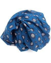 Doria & Dojola Foulard Geometric Flowers Blue