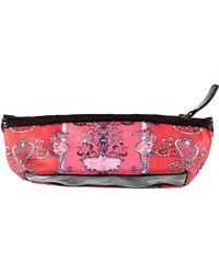 Jessica Russell Flint - Seahorses In The Garden Leather & Waxed Canvas Cosmetic Pencil Case - Lyst