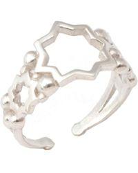 Leivan Kash - Ayla Open Ring Silver - Lyst