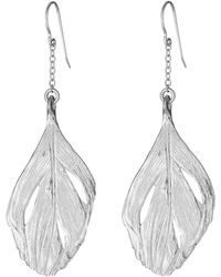 Chupi - I Can Fly Swan Feather Maxi Earrings In Silver - Lyst