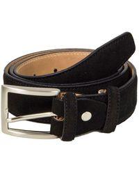 40 Colori Black Trento Leather Belt