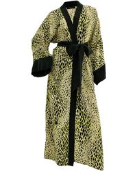 niLuu Bowie Women's Kimono Robe - Green