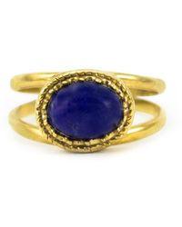 Vintouch Italy Cordellina Lapis Ring - Metallic