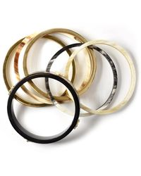 Akola 6-piece Horn Bangle Set - Metallic