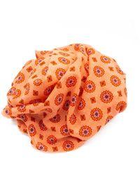 Doria & Dojola Foulard Geometric Flowers Coral - Orange