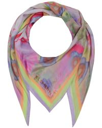Klements Silk Scarf In Woodstock Print - Multicolour
