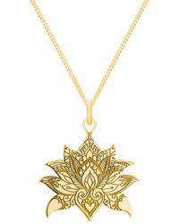 CarterGore - Medium Gold Lotus Flower Pendant Necklace - Lyst