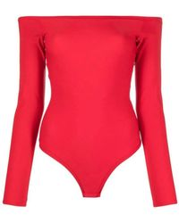 Murmur Shape Bodysuit Red