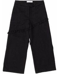 SAKU New York - Paneled Frill Edge Pants - Lyst