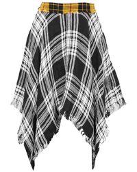 Sarah Regensburger Dark Highlands Tartan Skirt - Multicolour