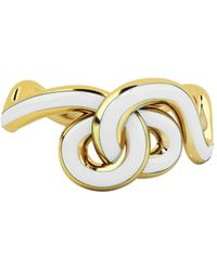 1986 Wiggle Wiggle Knot Cloud White & Gold - Metallic