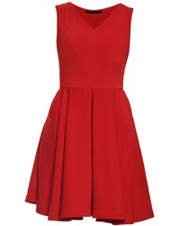 Philosofée - Red Stretch Crepe Austin Dress - Lyst