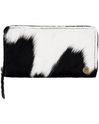 MAHI - Classic Ladies Purse In Black & White Pony Hair Leather - Lyst