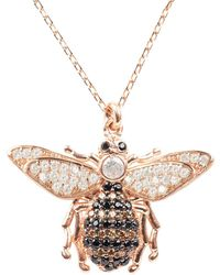 LÁTELITA London Honey Bee Pendant Necklace Rosegold - Pink