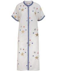 ADA KAMARA Star Kaftan Dress - White