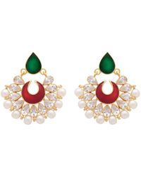 Carousel Jewels Hand Finished Enamel And Pearl Earrings - Multicolour