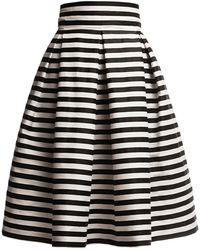 Rumour London Amalfi Striped Midi Skirt - Black