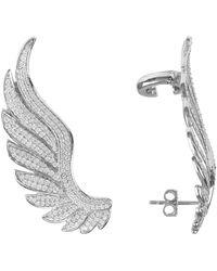 LÁTELITA London Gabriel Angel Wing Ear Climber Silver - Metallic