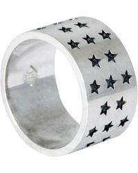 Edge Only Black Star Galaxy Ring