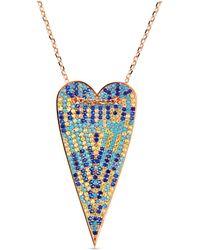 Cosanuova Rose Multi-color Long Heart Necklace - Multicolor