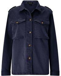 Baukjen Rhian Cargo Jacket In Washed Navy - Blue
